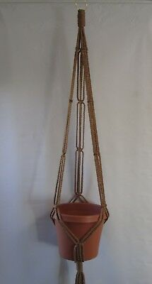 MACRAME PLANT HANGER 43in SIMPLE 3-ARM 6mm CHOOSE COLOR