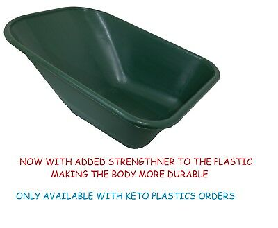 Wheel Barrow Replacement Plastic Body 110 Litre/ No Holes Made In Uk