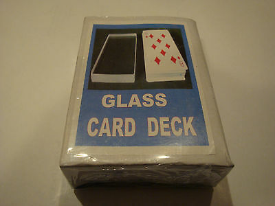 Glass Omni Card Deck Magic Tricks Ambitious Routine Invisible Gaff Gimmick Bicyc