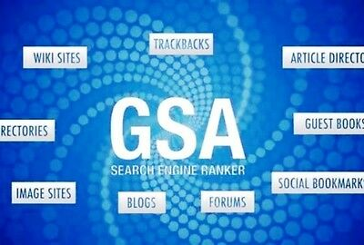 BUILD OVER 300 SEO BACKLINKS USING  GSA SEARCH ENGINE RANKER