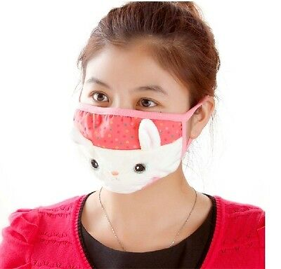 Lovely 3D HELLO KITTY Mouth Gauze mask Muffle Anti Dust Thermal Face Mask