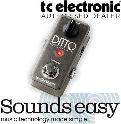 TC ELECTRONIC DITTO LOOPER - Guitar Looper Pedal with 5 minutes of Looping! NEW