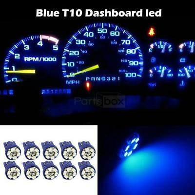 10x Blue T10 Wedge 158 161 194 W5W Bulb LED Dome Instrument Car Light Bulb Lamp