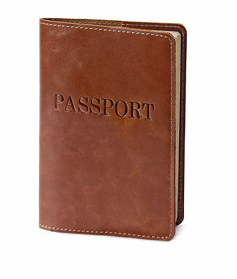 VIP Brown leather Passport cover - 008 - Amazing gift for anyone! (Except kids?)