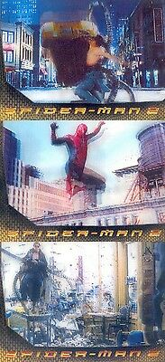 Spider-Man Movie 2 2004 Upper Deck Lenticular Insert Card Set L1 To L3 Ma