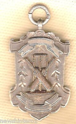 #s3.  Silver  Cricket Prize Fob - About 1932