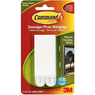 3M Command Large  Poster Hanging Strips  17206 Picture Print Frame Art