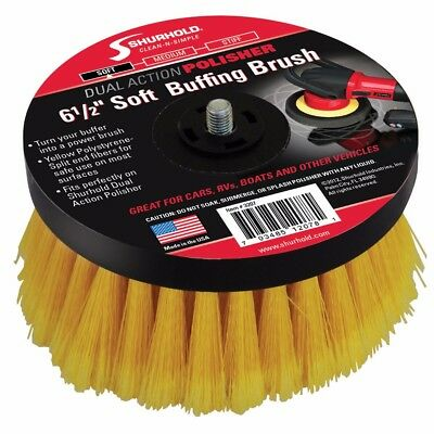 "NEW Shurhold 6-½"" Soft Brush f/Dual Action Polisher 3207"