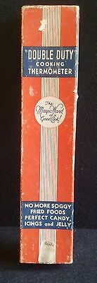 Double Duty Cooking Ohio Thermometer Co. Springfield OH Vintage box Candy Jelly