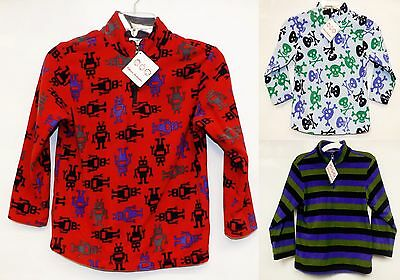 NWT Hanna Anderson Kids Boy's 1/4 Zip Soft Fleece Pullover Sweater ALL SIZES