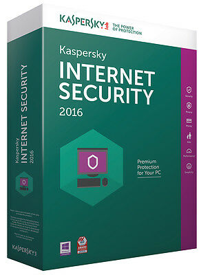 Kaspersky Labs Internet Security 2016 für 1 User, Windows 7, 8, 10 Antivirus