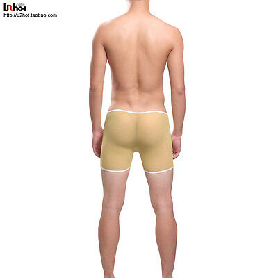 Boxer taille M Jaune total transparent sheer Ref S20 Uzhot by neofan homme sexy