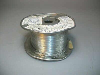 Silver Plated Copper Wire 26 AWG 0.4mm Craft Wire 3,000+ Feet 7505701-8 - NOS
