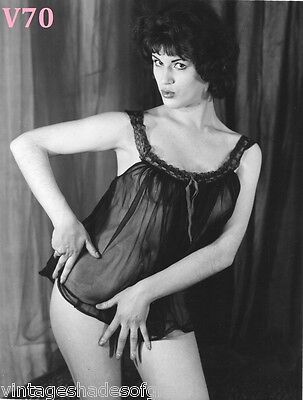 Vtg Nude Print 8X10 PINUP Photo BRUNETTE Woman GREAT POSES Busty Beauty U-CHOOSE