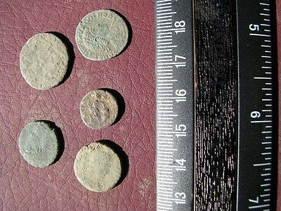 5 Ancient Roman coins + 4 oz. Mint State Restoration Coin Cleaner M195