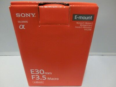 Brand  NEW Sony SEL30M35 30mm F3.5 Macro Lens for E mount SEL30M35 Silver