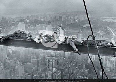 MEN ON A GIRDER POSTER (61x91cm) THE NEW YORK COLLECTION PICTURE PRINT NEW ART