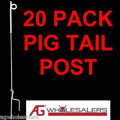 Strip Graze Pig Tail Tread In Post X 20 Steel Electric Fence For Poly Tape Wire