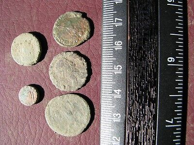 5 Ancient Roman coins + 4 oz. Mint State Restoration Coin Cleaner M188