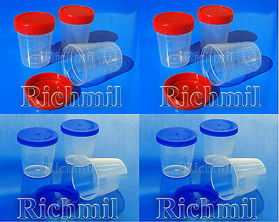 40ml & 100ml Plastic Specimen Sample Jar / Craft Container / Pot / Cup with Lids