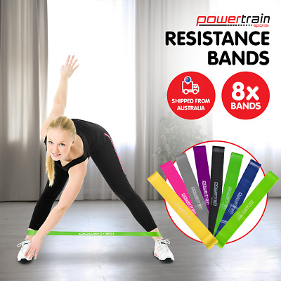 Yoga Resistance Band Loops Pilates Straps Home Gym Fitness Exercise Workout