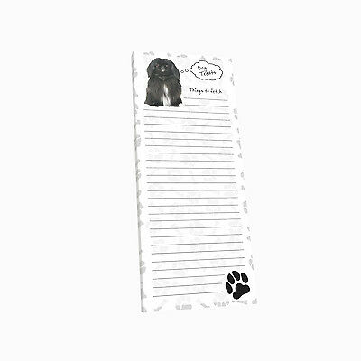 Pekingese  Dog Magnetic List Pad Notes Paper Magnet Refrigerator Note