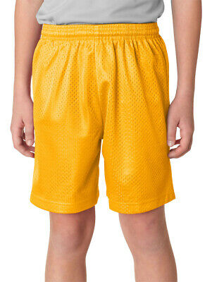 A4 Youth Comfortable Moisture Wicks Covered Elastic Waistband Mesh Short. NB5301