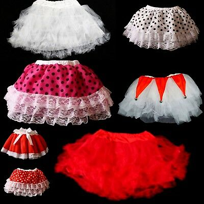 Christmas Xmas Party Tutu Tulle Skirt Girls Womens Costume Fancy Dress Up