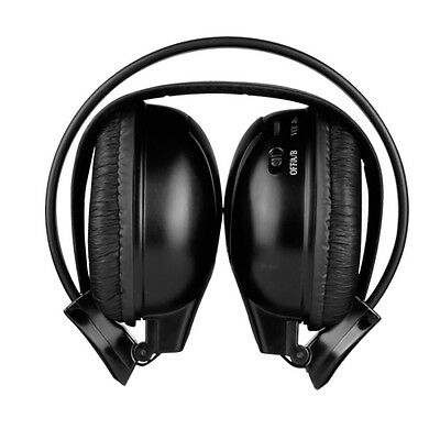 XTRONS IR Wireless Cordless Infrared Stereo Headphones Headsets Dual Channels