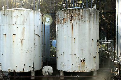 3500(approx.) Gallon Carbon Steel Cone Bottom Vertical Storage Tank USED