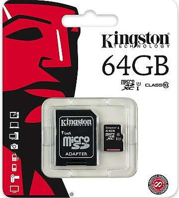 Kingston 64GB microSDXC Class 10 micro SD SDXC 45MB/s 64G microSD SDC10G2/64GB