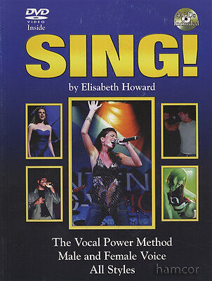 Sing by Elisabeth Howard Vocal Power Method Music Book with DVD & 4CDs