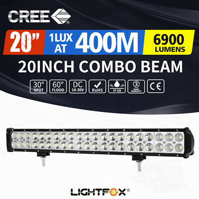 【Now$32】20inch Cree LED Light Bar Flood Spot Combo 12V24V 4X4 Offroad Work