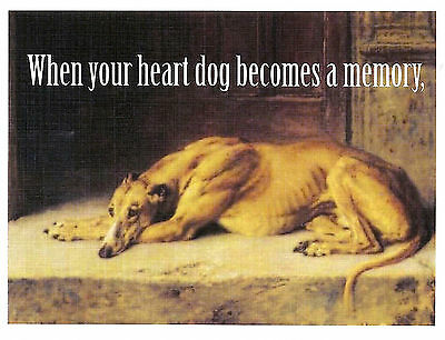 Vintage Altered Art Greyhound Sympathy Cards with Envelopes, set of 4