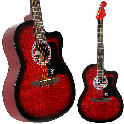 Lindo 933C Apprentice Red Acoustic Guitar + Carry Case - Ideal for Beginners