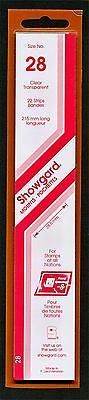 Showgard Stamp Mounts Size 28/215 CLEAR Background Pack of 22