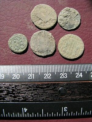 5 Ancient Roman coins + 4 oz. Mint State Restoration Coin Cleaner M157