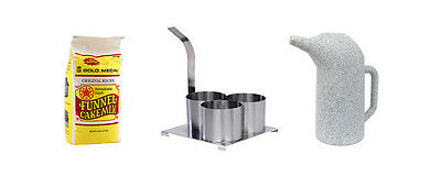 """Funnel Cake Kit Includes 4"""" Triple Ring, 2 Quart Pitcher and Mix **FREE SHIP**"""