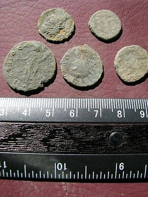 5 Ancient Roman coins + 4 oz. Mint State Restoration Coin Cleaner M150