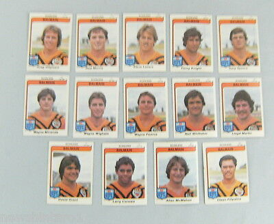 1980  Balmain Tigers  Scanlens Rugby League Cards