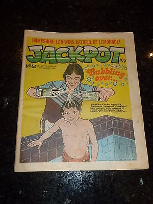 JACKPOT Comic - No 63 - Date 02/08/1980 - UK PAPER COMIC