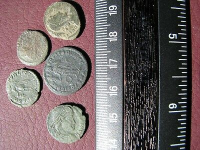 5 HQ Ancient Roman coins + 4 oz. Mint State Restoration Coin Cleaner   M121