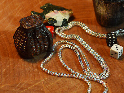 """1mm Box Italian Silver Necklace Chain link Lobster Clas 16"""" 18"""" 20"""" 22"""" 24"""" C007"""