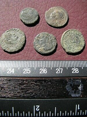 5 HQ Ancient Roman coins + 4 oz. Mint State Restoration Coin Cleaner   M119