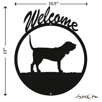 Bloodhound Black Metal Welcome Sign *NEW*