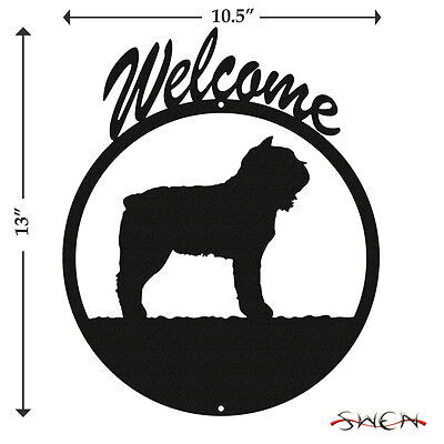 Bouvier des Flandres Black Metal Welcome Sign *NEW*