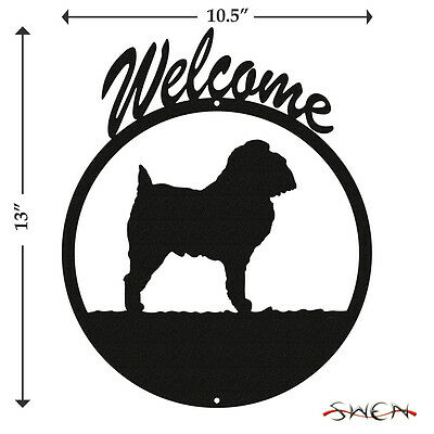 Brussels Griffon Black Metal Welcome Sign *NEW*