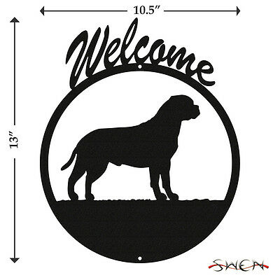 Bullmastiff Black Metal Welcome Sign *NEW*