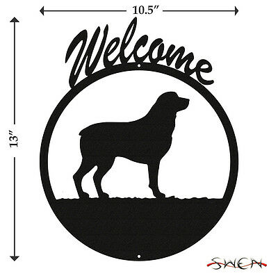 Rottweiler Black Metal Welcome Sign *NEW*