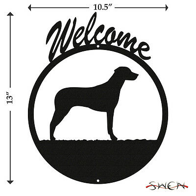 Rhodesian Ridgeback Black Metal Welcome Sign *NEW*